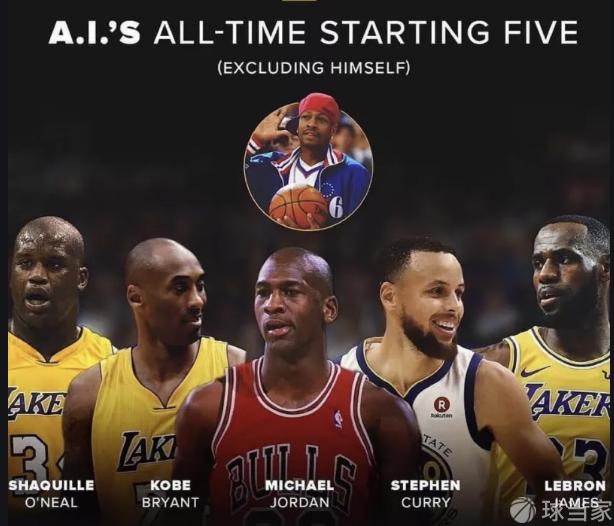 阿伦艾弗森评价他心目中的NBA历史前五