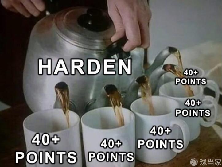 火箭队打崩老鹰队,哈登三节60分破多项纪录